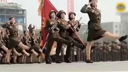 """看看朝鲜女兵的""""弹簧步"""", 小编看得目不转睛!"""