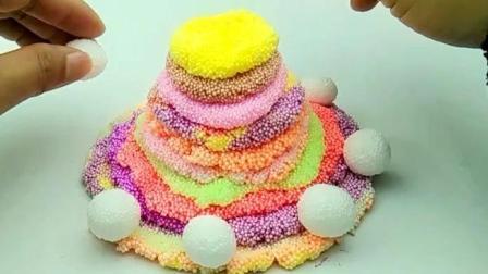 雪花泥制作蛋糕  儿童玩具!