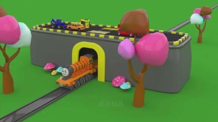 亮亮玩具托马斯火车学习颜色, 汽车动画学英语, 婴幼儿宝宝教育游戏视频908