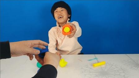 亲子互动玩具捏彩泥, 贝壳珍珠还是大嘴怪吃肉丸子?