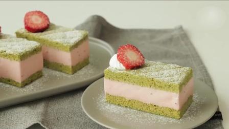 手把手教你做抹茶草莓慕斯蛋糕