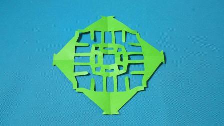 剪纸小课堂: 亭子团花, 儿童喜欢的手工DIY, 动手又动脑