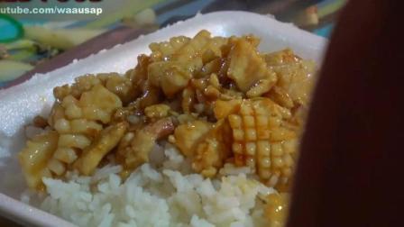 泰国街头美食: 炒甜牛肉, 鱿鱼辣椒罗勒炒饭, 虾垫泰国面条, 让你大饱口福