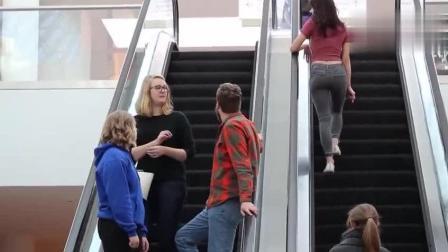 国外搞笑视频, 坐电梯恶搞路人, 路人都吓得懵了