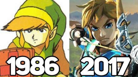 塞尔达传说历代游戏对比: 论小绿帽是如何消失不见的