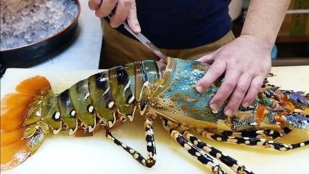 日本海鲜: 巨型龙虾刺身, 真想尝尝是什么味道!