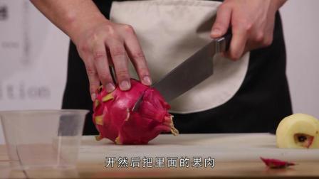 水果沙拉的网红式做法, 男子却别具一格, 原滋原味太新颖了!