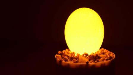 教你用鸡蛋做一台充电夜灯 手工DIY暖光LED护眼装饰台灯