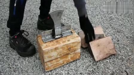 农村大叔发明了一个劈柴神器, 根本不费力, 能推广全国绝对是福利