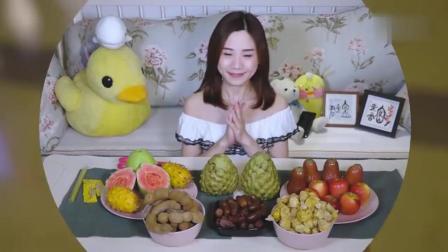 大胃王密子君今天吃的这些奇葩水果, 有没有你最爱吃的呢