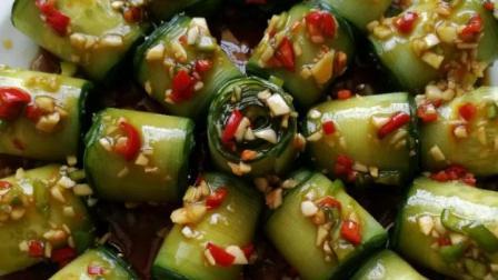 大厨教你酸辣开胃黄瓜的家常做法,香辣可口