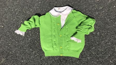昭尔茹悦第65集【春色】从上往下织的儿童开衫毛衣织法和图解