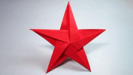 纸艺手工五角星的折法, 一张纸就能折出简单又漂亮的五角星