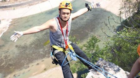 野路子: 第一次玩岩降, 就冒险挑战京郊120米大悬崖, 太刺激了