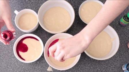 彩虹蛋糕的制作方法, 速度围观!