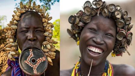 非洲落后部落, 她们把垃圾当做配饰, 饰品越脏男人越喜欢