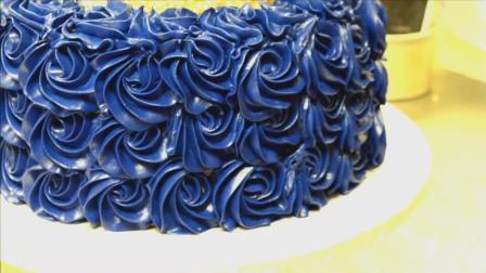 蓝玫瑰婚礼生日蛋糕 真是太漂亮了