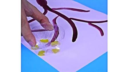 4个生活小妙招: 用塑料瓶底和一根笔, 快速画出好看的图画!