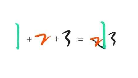 0基础学行书? 用数字1、2、3练习行书? 方法非常简单!