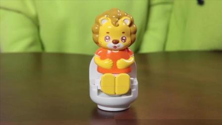 快乐可可狮玩具  快乐可可狮上厕所