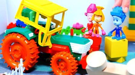 罕见四轮拖拉机组装, 各款汽车小飞机甜甜