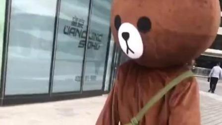布朗熊: 你的头要被大风吹掉了