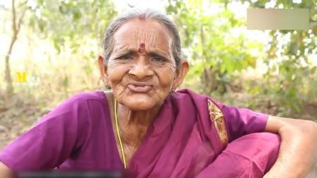 印度老奶奶, 弄来一盘鸡肉搞野炊, 看看她是怎么烹饪的