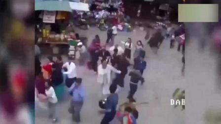 监控实拍_国外各种暴乱场面!