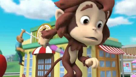 《汪汪队立大功》大猴子吓跑了客人, 怎么办呢