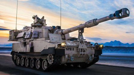 美军极其强大的M109帕拉丁自行榴弹炮在行动!实弹射击!驾驶舱视角