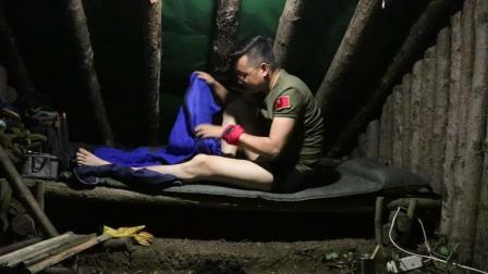 保健哥自家山头, 丛林小木屋寂寞的野营