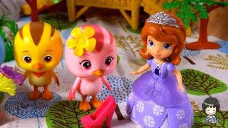 萌鸡小队小琦故事萌鸡小队4兄妹和小公主的红舞鞋