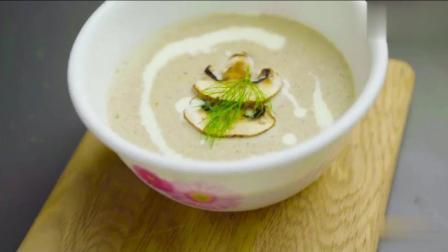 简单的法式奶油蘑菇汤, 舌尖上的小浪漫!