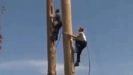 爬30米高的树还需要工具? 牛人: 给我一根绳子, 15秒就够了!