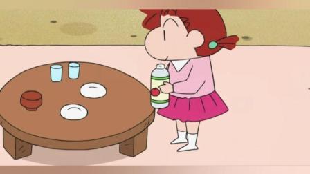 蜡笔小新: 小新发现自己不见的动感超人在妮妮的碗里