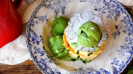 我的日常料理 第一季 超详细步骤教你制作日本人气网红甜点 抹茶厚松饼配冰淇淋