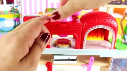 芭比娃娃在厨房做披萨饼, 追风亲子游戏