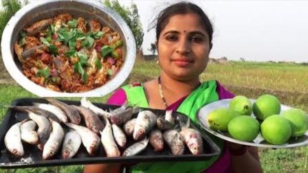 印度大姐做鱼, 5斤鱼和几个青梨一起煮, 出锅的瞬间我泪崩了