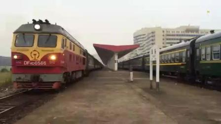 汕头开往重庆北的火车 DF4D牵引K688次列车始发出站