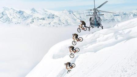 极限大神 Fabio Wibmer 骑着山地车大闹滑雪场 上演胜利大逃亡