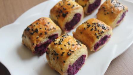 紫薯新做法, 蒸一蒸, 揉一揉, 营养美味, 大人小孩都喜欢!