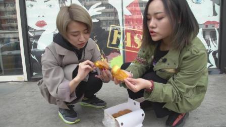 天津鞍山西道的拔丝蛋糕: 要说近期热度最高的甜品, 它绝对是王炸