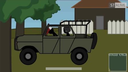 《绝地求生》吃鸡搞笑动画! 当你遇到不会开车的