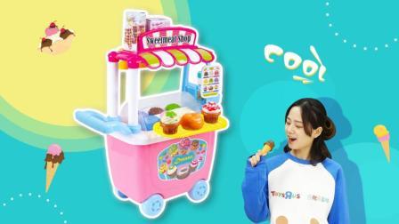 冰冻雪糕车儿童过家家玩具制作雪糕
