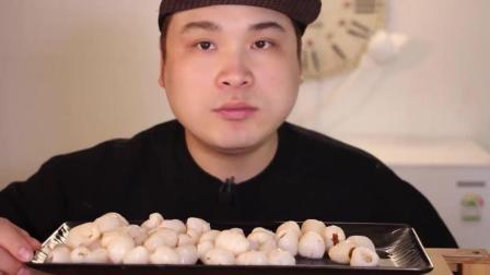 韩国大胃王豪放派, 吃荔枝, 整整一大盘, 吃的干干净净