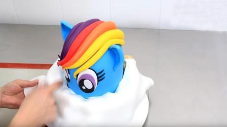 彩虹小马驹翻糖蛋糕, 制作过程简洁不简单, 怎么舍得下口