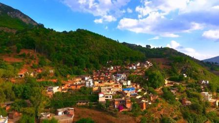 航拍最美云南-昆明款庄乡, 一个宁静而又美丽的村庄