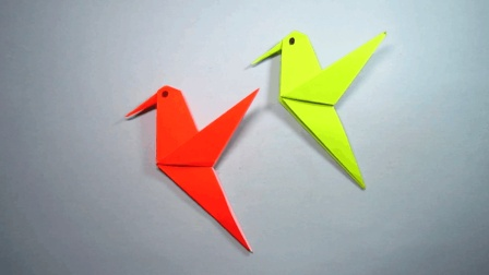 儿童手工折纸蜂鸟, 简单又漂亮的小动物折纸大全