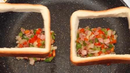 彩虹吐司: 超简单欧姆蛋吐司2合1, 营养又美味, 给你多彩好心情, 快来变身toast达人!