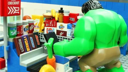 小朋友们, 你们猜猜, 乐高为什么变成绿巨人呢?